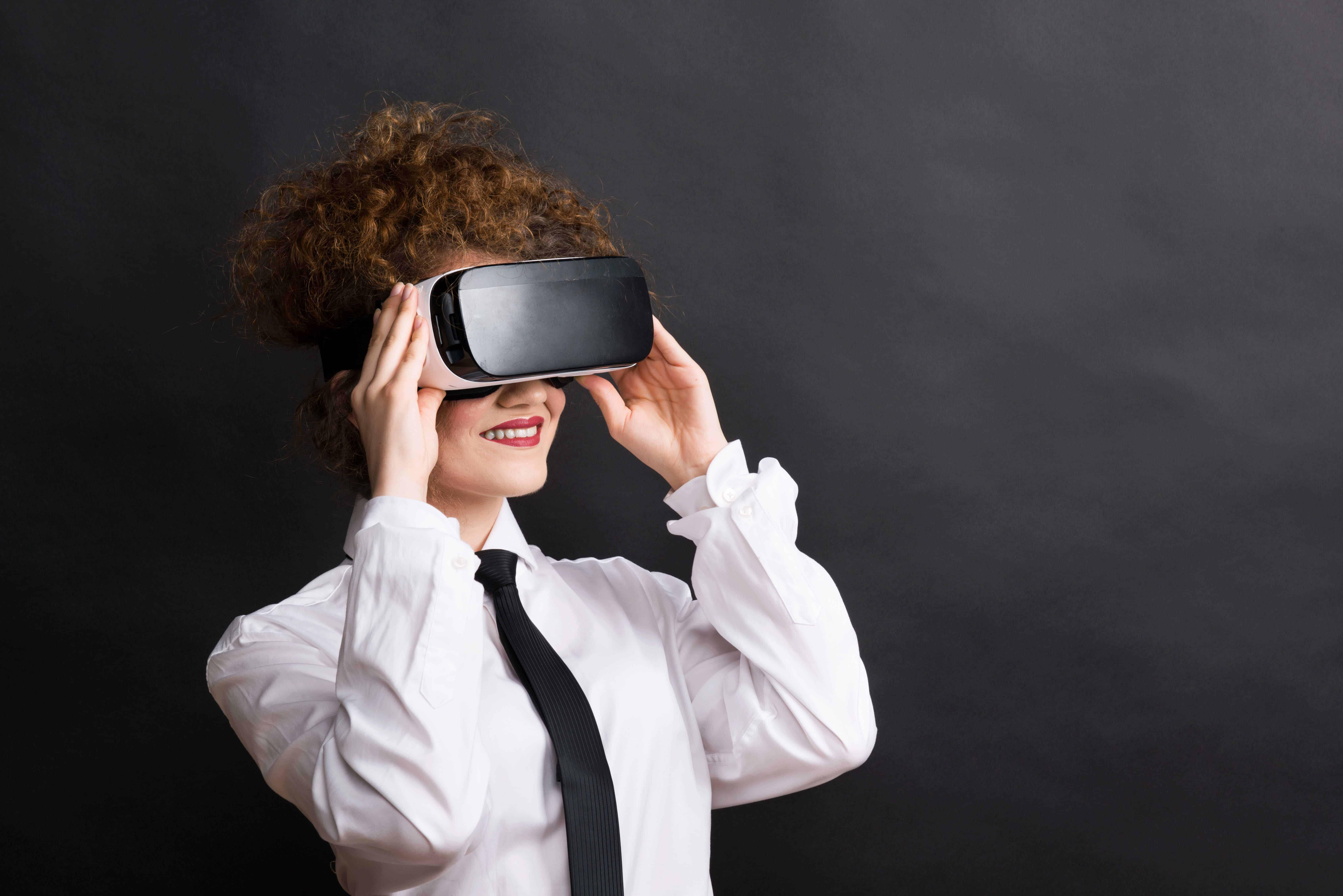 3D Brille mit Frau