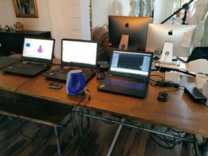Arbeitsplatz eines 3D Artisten