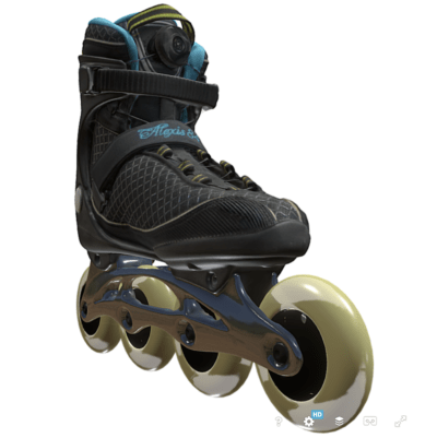 Skate in 3d als Scan