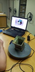 3D scan Artefakte am PC Bildschirm