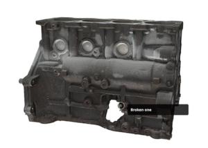 Motor mit Loch