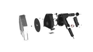 Explosionsbild 3D Produktvisualisierung