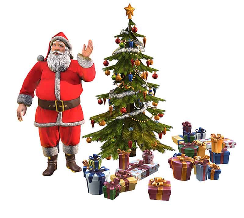 Santa Claus in 3d